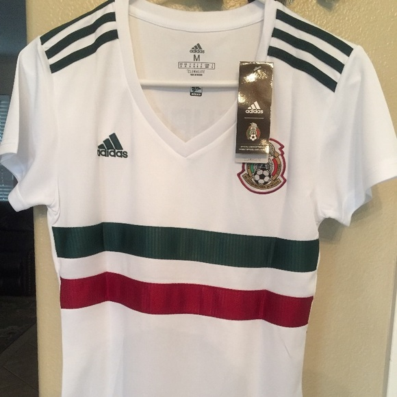 wholesale dealer ad7a5 ab60d 2018 Mexico Women's Away Jersey NWT